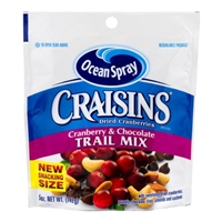 Ocean Spray Craisins Cranberry & Chocolate Trail Mix, 5.0 OZ Food Product Image