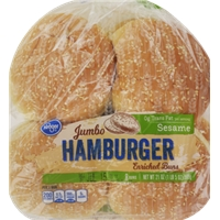 Kroger Sesame Jumbo Hamburger Buns Food Product Image