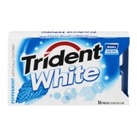 Trident White Peppermint Sugar Free Gum - 16 Ct Food Product Image