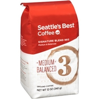 Seattle's Best Coffee Ground Medium & Balanced Signature Blend No. 3 Food Product Image