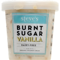 Steve's Organic Non-Dairy Burnt Sugar Vanilla Ice Cream Food Product Image