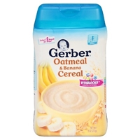 Gerber Oatmeal and Banana Cereal - 8oz Food Product Image