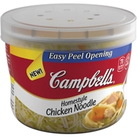 Campbell's Homestyle Chicken Noodle Soup Food Product Image