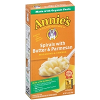 Annie's Homegrown Spirals with Butter & Parmesan Macaroni & Cheese Organic Pasta Food Product Image
