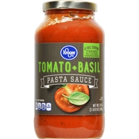 Kroger Tomato & Basil Spaghetti Sauce Food Product Image
