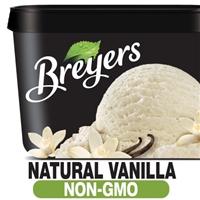 Breyers Natural Vanilla Ice Cream Food Product Image