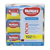 Huggies Wipes Simply Clean Fresh 3X Soft Pack RFT 3/ 64ct Food Product Image