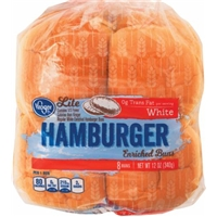 Kroger Lite White Hamburger Buns Food Product Image