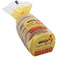 Safeway Kitchens English Muffins Honey Wheat Berry Food Product Image