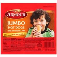 Armour Hot Dogs Jumbo Jumbo Meat Hot Dogs Food Product Image