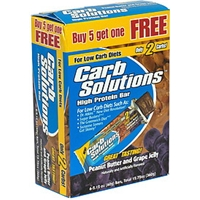 Carb Solutions High Protein Bar, Peanut Butter And Grape Jelly Food Product Image