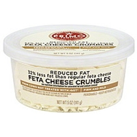 Primo Taglio Cheese Crumbles, Feta, Reduced Fat Food Product Image