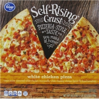 Kroger Self-Rising Crust White Chicken Pizza Food Product Image