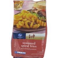 Kroger Seasoned Spiral Fries Food Product Image