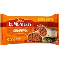 El Monterey Bean & Cheese Burritos Family Size - 8 PK Food Product Image