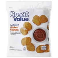 Great Value Chicken Nuggets Fully Cooked Food Product Image