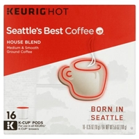 Seattle's Best Coffee House Blend K-Cup pods Packs 16ct Food Product Image