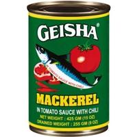 Geisha Mackerel in Tomato Sauce with Chili, 15 oz Food Product Image