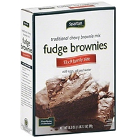 Spartan Fudge Brownies 13X9 Family Size Food Product Image