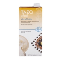 Tazo Chai Black Tea Concentrate Decaf Latte Food Product Image