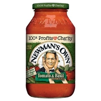 Newman's Own Tomato Basil Pasta Sauce 24 oz Food Product Image