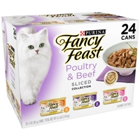 Purina Fancy Feast Poultry & Beef Feast Variety Sliced Gourmet Cat Food - 24 CT Food Product Image