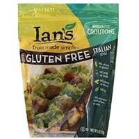 Ians Croutons Artisan-Cut, Gluten Free, Italian Style Food Product Image