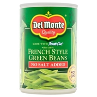 Del Monte Fresh Cut French Style Green Beans No Salt Added Food Product Image