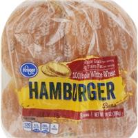 Kroger 100% Whole White Wheat Hamburger Buns Food Product Image