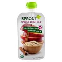 Sprout Intermediate Organic Baby Food, Apple, Cinnamon And Oatmeal, 4.0-Ounce (Pack Of 5) Food Product Image