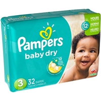 Pampers Baby Dry Size 3 Sesame Street Diapers - 32 CT Food Product Image
