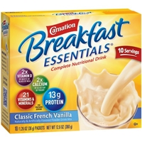 Carnation Breakfast Essentials Complete Nutritional Drink Classic French Vanilla - 10 PKS Food Product Image