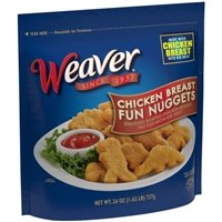 Weaver Chicken Breast Fun Nuggets Food Product Image