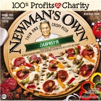 Newman's Own Thin & Crispy Supreme Frozen Pizza - 14.7oz Food Product Image