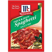 McCormick Thick & Zesty Spaghetti Sauce Mix 1.37 oz Food Product Image