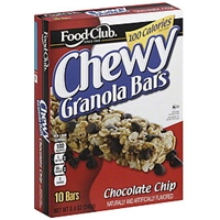 Food Club Granola Bars Chewy, Chocolate Chip Food Product Image