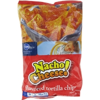 Kroger Nacho Cheese Tortilla Chips Food Product Image