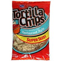 Kroger Tortilla Chips Restaurant Style, 100% White Corn Food Product Image