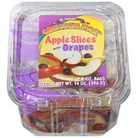 Crunch Pak Apple Slices With Grapes Mixed Food Product Image