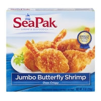 SeaPak Jumbo Butterfly Shrimp Food Product Image