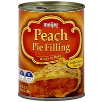 Meijer Pie Filling Peach Food Product Image