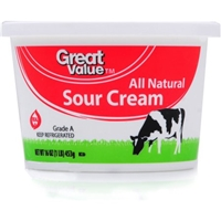 Great Value Sour Cream All Natural Food Product Image