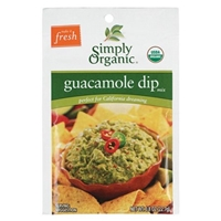 Simply Organic Certified Organic Guacamole Dip Mix Food Product Image