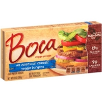 Boca All American Classic Meatless Burger Food Product Image