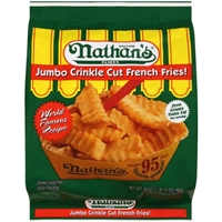 Nathan's Jumbo French Fries Crinkle Cut Food Product Image