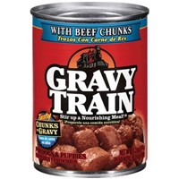 Gravy Train Dog Food With Beef Chunks Food Product Image