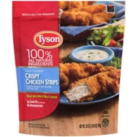 Tyson Chicken Strips Crispy Food Product Image