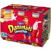 Dannon Danimals Smoothie Swinging Strawberry Banana - 6 CT Food Product Image