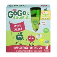 GoGo Squeez Applesauce On The Go Apple Cherry - 4 CT Food Product Image