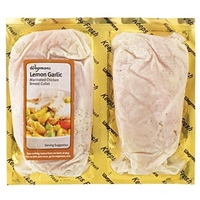 Wegmans Chicken Cutlets With Lemon & Garlic Marinade Lemon & Garlic Marinated Chicken Breast Cutlets Food Product Image